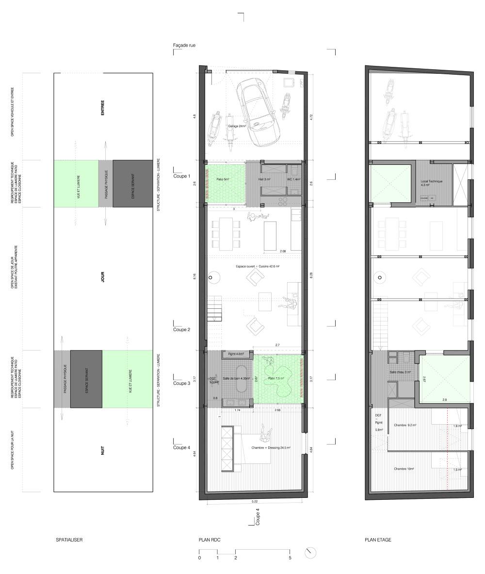 Souvent Maison Ob : Vivre dans un garage - Samuel Gloess Architecte Amiens MA07